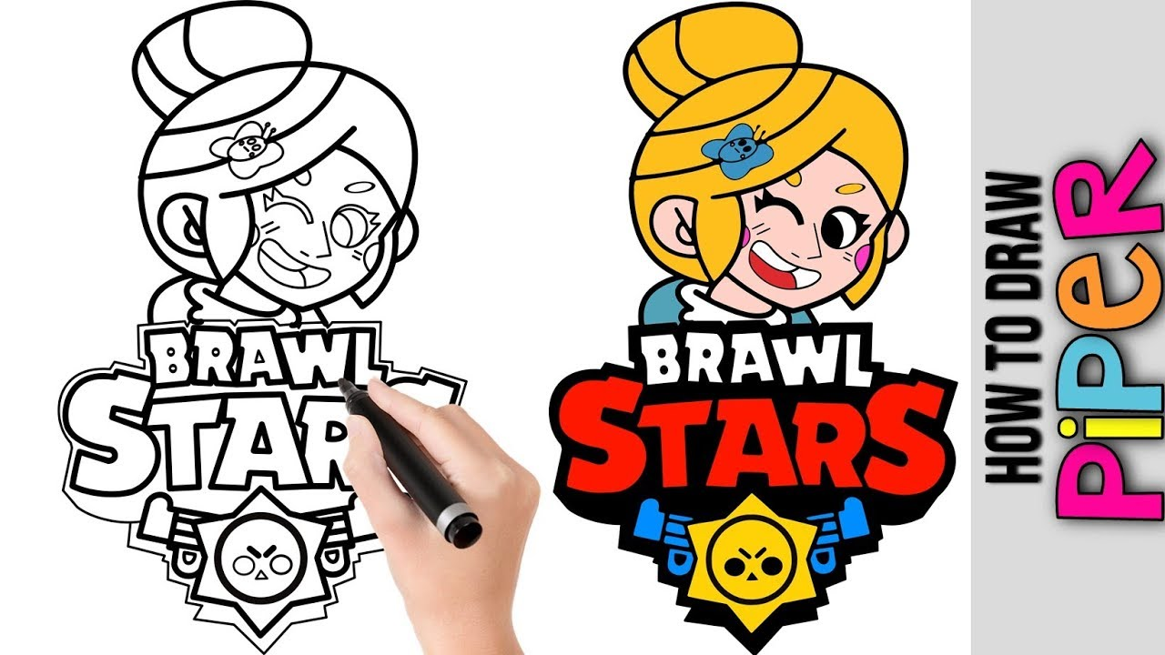 How To Draw Piper From Brawl Stars Cute Easy Drawings Tutorial