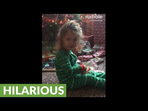 Toddler gets avocado for Christmas, gives hilarious reaction