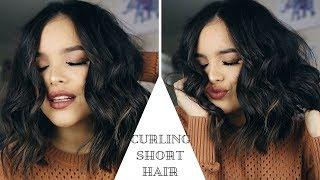 HOW TO: CURL SHORT HAIR USING THE BEACHWAVER! | CassidySecrets