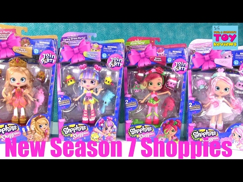 Shoppies Season 7 Shopkins Dolls Join The Party Opening Review | |PSToyReviews