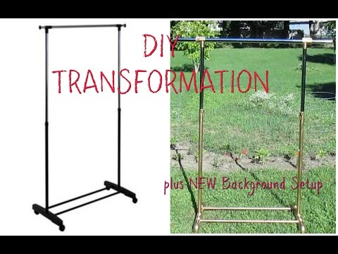 DIY Clothing Rack Transformation