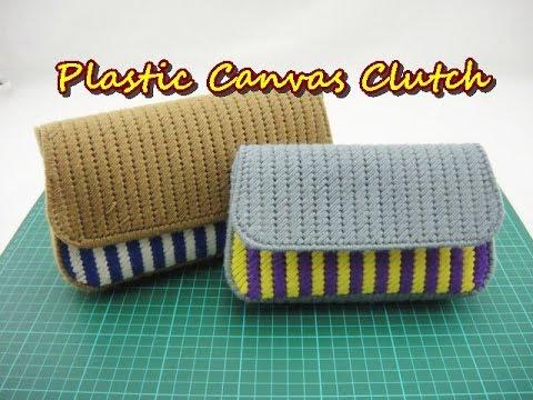 Plastic Canvas Craft - Purse Clutch - YouTube