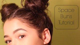 Double Bun Hair Tutorial   Essence Nicole