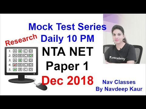 Research Mock, Learn Through MCQs Daily 10 PM