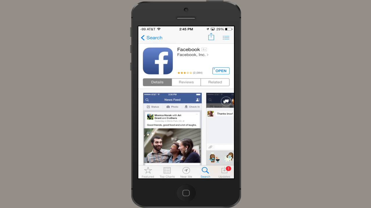How To Download Facebook On The Iphone 4s Iphones Apps Youtube