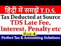 TDS Late Payment Fee | TDS Interest Calculation  | TDS Late Return Fee | TDS Penalty & Fee | TDS