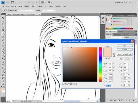 Photoshop CS4 การทำภาพการ์ตูน