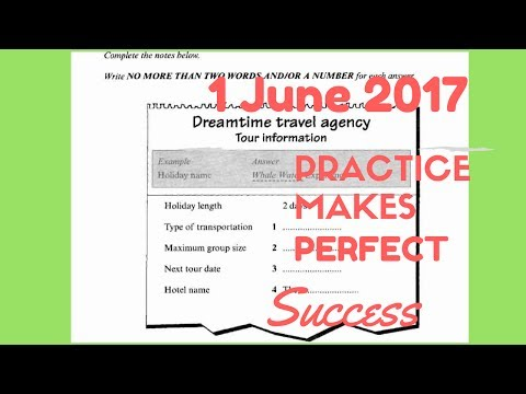 IELTS Listening Practice Test 2017 With Answers | 1 June 2017