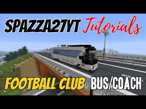 Minecraft Football Club Bus Coach Tutorial