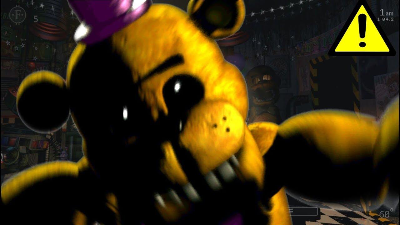 Ultimate Custom Night - Golden Freddy (Fredbear) Jumpscare - Video