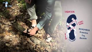 how to fit adjust chaco s with a toe loop sandal theinsolestore com