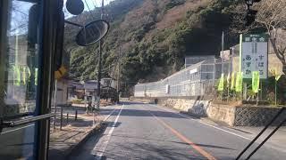 路線バス  前面展望 車窓 錦帯橋→新岩国駅/ いわくにバス 錦帯橋1450頃発