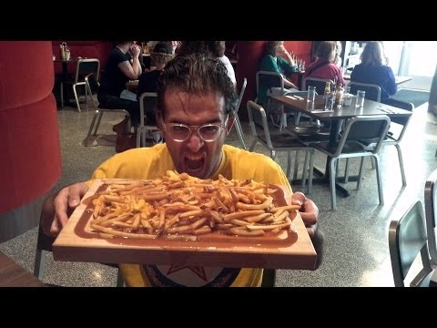 5 lb Poutine CHALLENGE in House Record 9 minutes w/ New Commentary