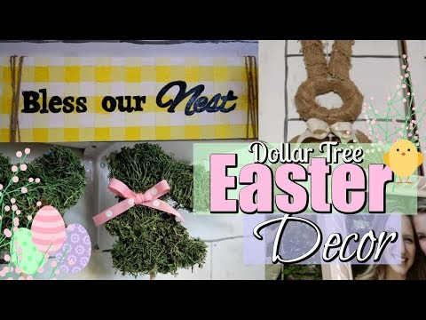 DOLLAR TREE EASTER DIY'S // DOLLAR TREE SPRING DECOR IDEAS // EASTER DECOR DIY