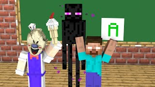 Monster School : Terrifying ice-cream seller's - Minecraft Animation