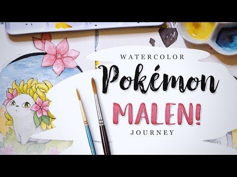 Pokémon Malen #4 🎊 My Watercolour...
