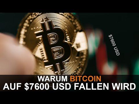 WARUM DER BITCOIN AUF $7600 USD FALLEN WIRD