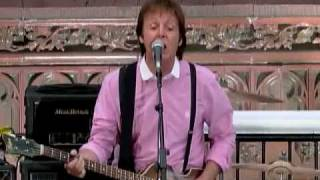 Paul Mccartney on David Letterman - Part 3 of 3(Performance)