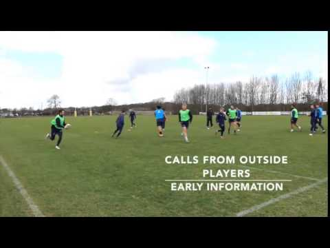 Rugby Running Lines Drill from Newcastle Flacons