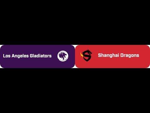 Shanghai Dragons vs Los Angeles Gladiators - Game 4 (Eichenwalde)  [Overwatch League Inaugural]