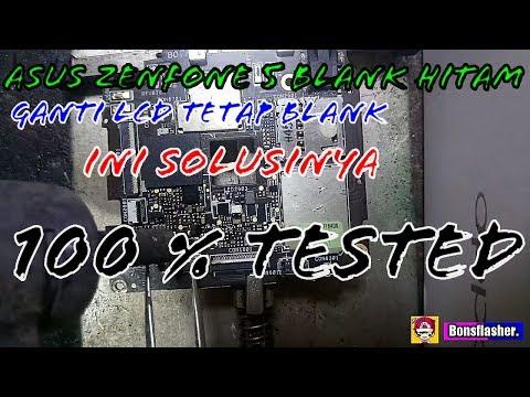 ASUS ZENFONE 5 BLANK HITAM / BLACK SCREEN HANYA NYALA LAMPU LCD 100 % TESTED