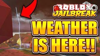 ROBLOX JAILBREAK WEATHER ET RAIN UPDATE!! ⛈️⚡ NOUVEAU CAR TEXTURE ET WEATHER! (Roblox Jailbreak)