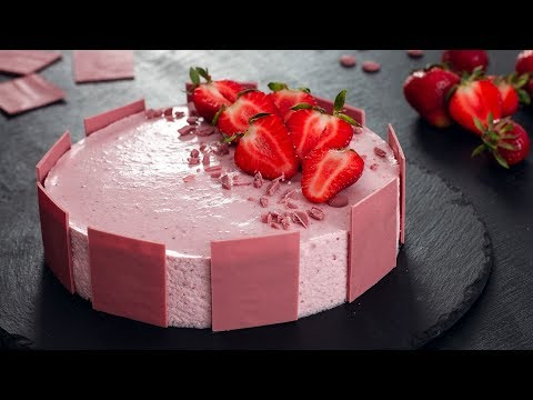 Ruby Chocolate Strawberry Mousse Cake