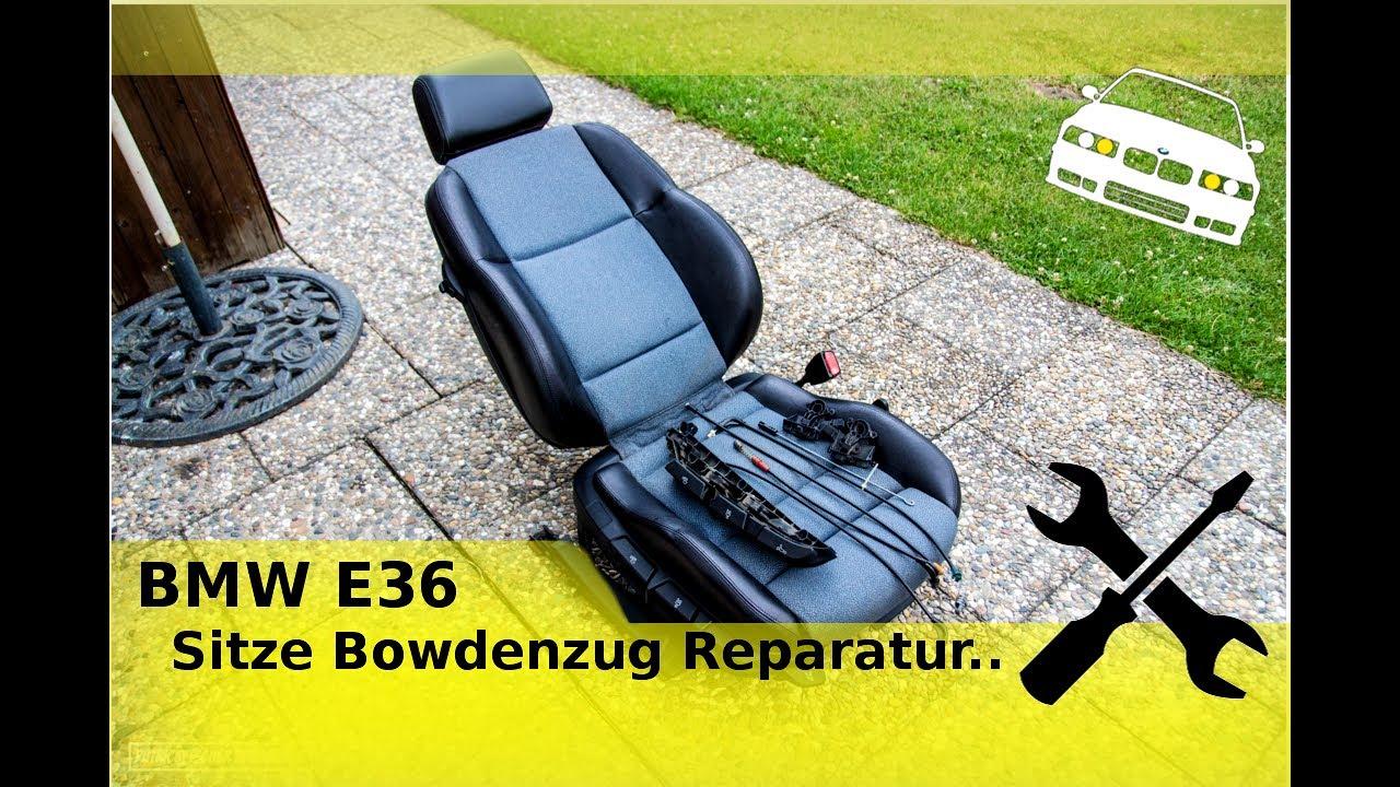 bmw e36 sitze bowdenzug reparatur youtube. Black Bedroom Furniture Sets. Home Design Ideas