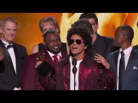 Bruno Mars Wins Album Of The Year  Acceptance Speech  60th GRAMMYs