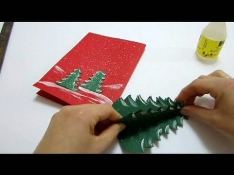christmas cards pop up card how to make a pop up xmas tree card - Create Christmas Cards