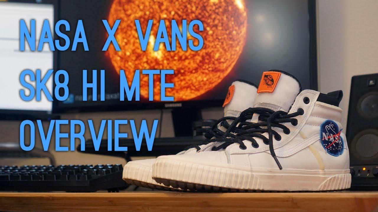 b4dbeb90fd Vans x NASA Sk8-Hi MTE White Overview - YouTube