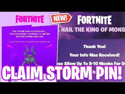 HOW TO CLAIM THE NEW STORM KING PIN! (Full Email