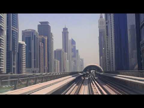 Dubai Metro - Financial Centre to Burj Khalifa   2017