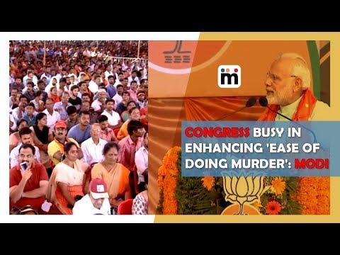 Congress busy in enhancing 'ease of doing murder': Modi   Mijaaj News