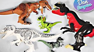 10 FAVOURITE LEGO DINOSAUR TOYS for kids JURASSIC WORLD - INDOMINUS REX T-REX VELOCIRAPTOR