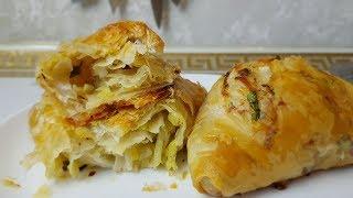 Постные Плацинды из вытяжного теста,😍 цыганка готовит. Тесто Фило.Gipsy cuisine.😋