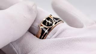 EliteGold - кольца обручальные корона с эмалью и гербом дополнительный обзор