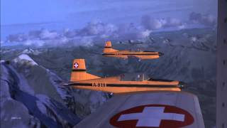 FSX Pilatus PC-7 formation Flight