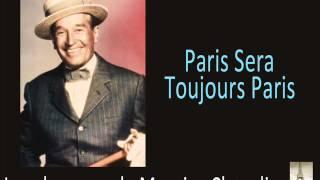 Maurice Chavalier - Paris Sera Toujours Paris
