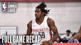 NUGGETS vs ROCKETS   Houston Victorious Behind Clemons, Adel   MGM Resorts NBA Summer League