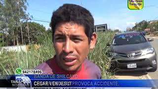TARAPOTO NOTICIAS: CHOFER DE AUTO PROVOCA ACCIDENTE, MOTOCARRISTA RESULTÓ HERIDO .