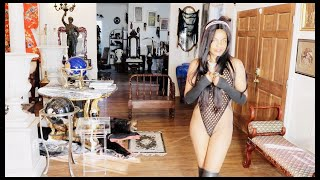 Lingerie Try On Haul | Sheer | See Through Bodysuit | Thong | Thigh High Boots | 水着紹介