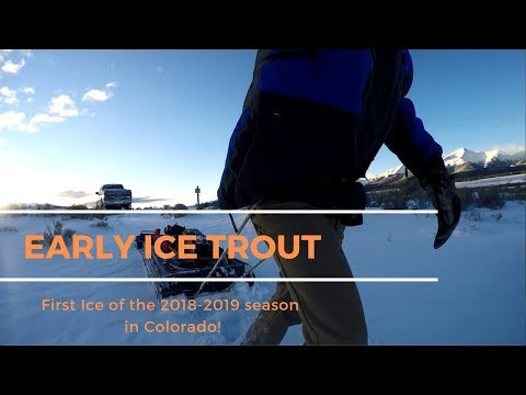 First Ice Trout Fishing Colorado W/Gopro (Underwater Footage)
