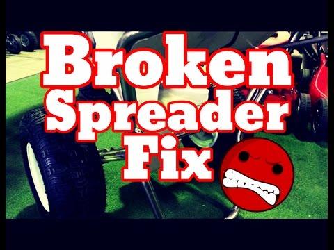 How To Repair Fix Fertilizer Spreader Fertilizer Spreader Not Working Broken
