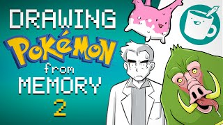 Three Artists Draw EVEN MORE Pokémon from Memory
