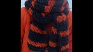 Самый простой шарф крючком шаг за шагом!!!