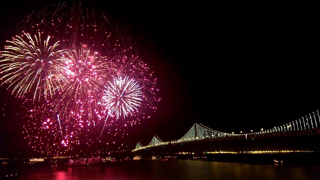 San Francisco New Years Eve Fireworks  New Year Celebrations Full Hd