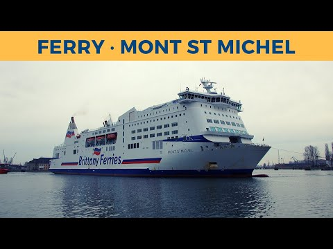 Arrival of ferry MONT ST MICHEL at Remontowa Ship Repair Yard (Dock 5) in Gdańsk