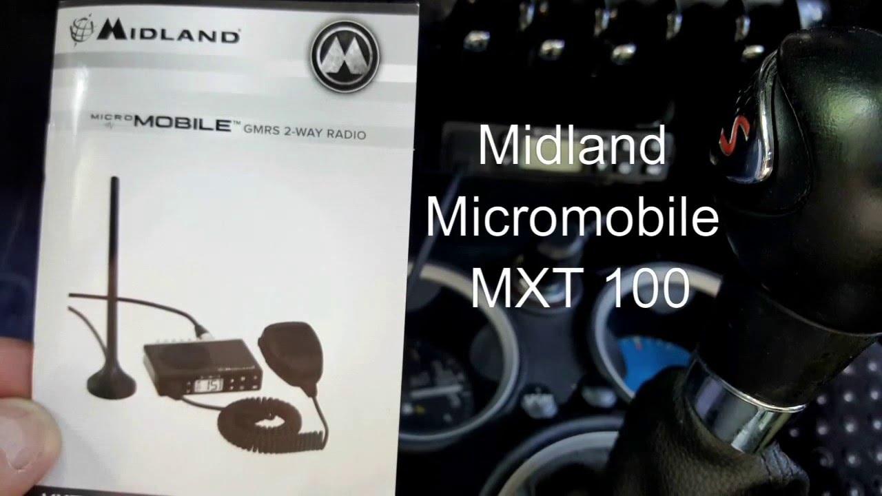 Midland Micromobile MXT 100 programming and setup