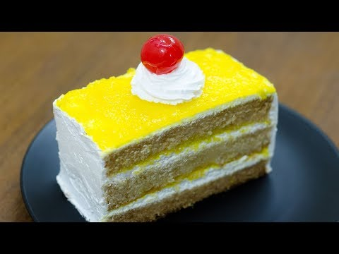 PINEAPPLE PASTRY CAKE RECIPE L EGGLESS \u0026 WITHOUT OVEN